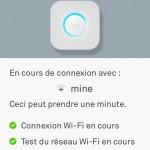 Le NEST Protect nous prévient ensuite qu'il va se connecter au réseau Wifi domestique.