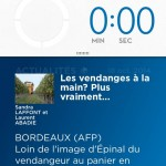 Pendant le brossage de dents, l'application nous affiche les dernières actus de l'Agence Française de Presse.