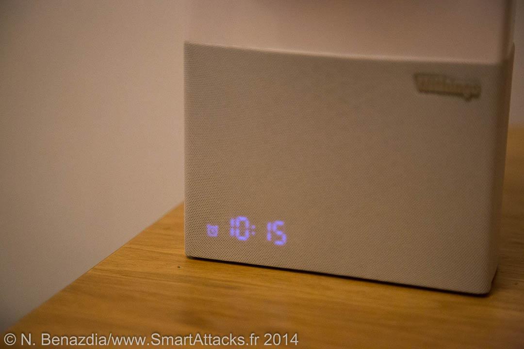 Lorsque le réveil est programmé, un symbole de réveil est visible à côté de l'heure.
