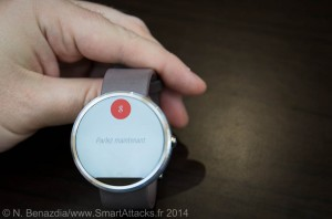 Interface smartwatch Google OK