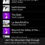 dans l'onglet musique, on a accès à l'ensemble des morceaux de musique présents sur notre smartphone. En appuyant sur la petite boule à facettes, il est possible d'accéder à des options d'éclairage supplémentaire.
