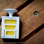 Sur cette photo, on oit bien l'éponge sur laquelle on peut verser les huiles essentielles