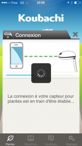 connexion smartphone plant sensor 2