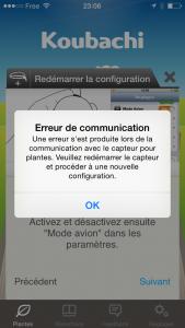 erreur de communication