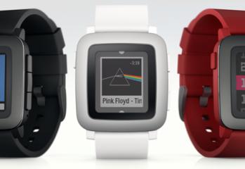 pebble time montre couleurs
