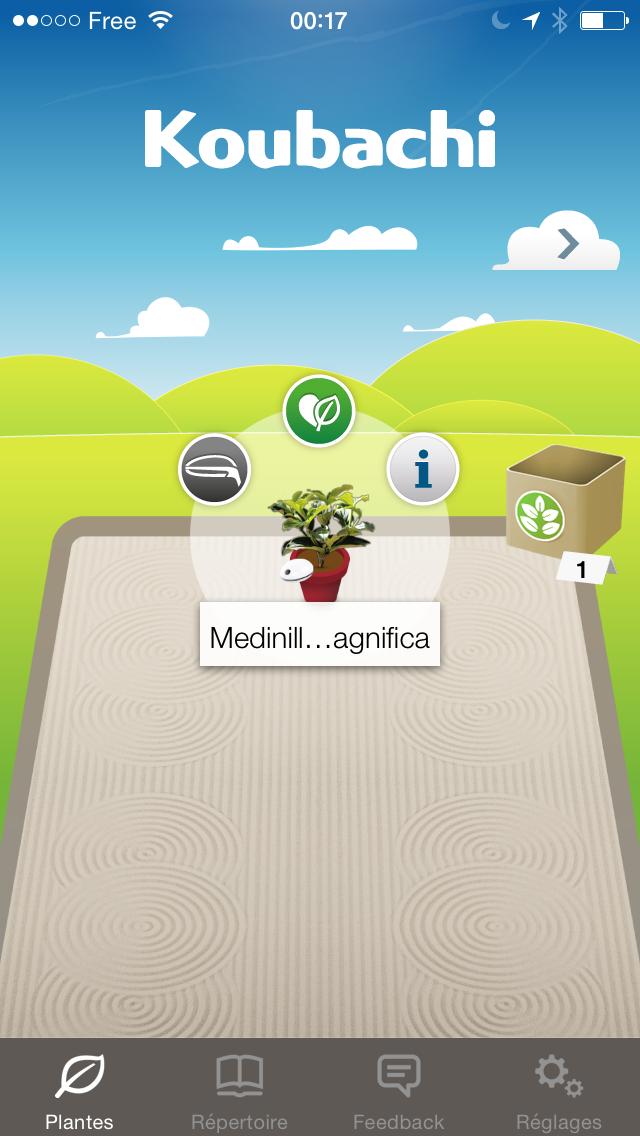 test plant sensor jardin activité